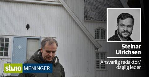 Jo Hedberg står bak Bønnelista. Ønsker de oppmerksomhet på noe annet enn homosaken, anbefaler ansvarlig redaktør Steinar Ulrichsen, at det endrer menneskesynet sitt først.
