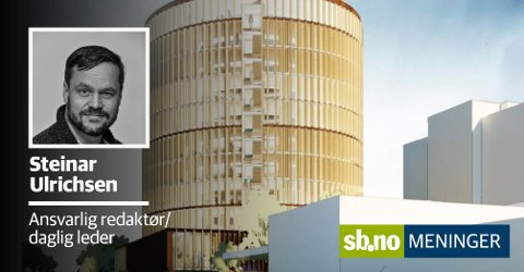Slik ser KHR Arcitecture for seg en ny tingrett i Sandefjord  - der den selvsagt bør ligge.
