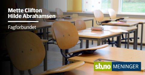 Vi får ikke noe god læring i Sandefjordskolen hvis vi ikke jobber med det psyko-sosiale miljøet på skolene.