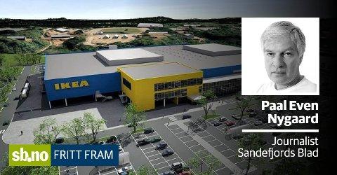 NY RETNING: Slik skulle varehuset på Danebu bli. Nå går Ikea i stedet nye veier.