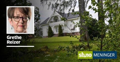 NEDRE SKJÆRSNES GÅRD: Rett nord for Oslofjord Convention Center ligger denne gården, som nylig ble solgt for 24 millioner kroner - Grethe Reizer er kritisk. . Foto: Paal Even Nygaard