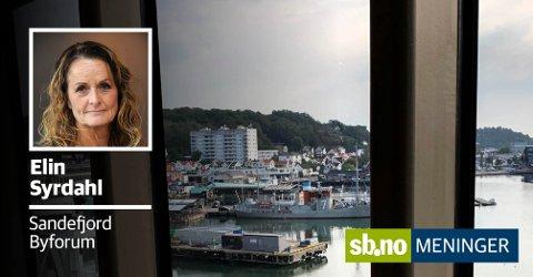 CARLSENKVARTALET: Sjøfronten er et pusterom - og det blir feil å tette igjen med boligbygging, skriver Elin Syrdahl. Her ses kvartalet fra Strømstadferja.