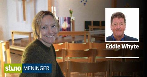 Forståelse: Sokneprest Linn Strømme Hummelvoll uttrykte forståelse for biskops Gunnar Stålsetts sivile ulydighet - det har skapt debatt.