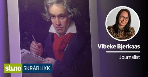 HISTORISK KJÆRLIGHETSERKLÆRING: Ludwig van Beethoven ble stadig forelsket. Under åpningen av jubileet som hedrer ham, ble deler av et kjærlighetsbrev til en ukjent kvinne lest opp. Bildet av Beethoven er tatt i verdens eneste sansekirke ved Signo i Andebu.
