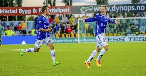 Sarpingen Joachim Thomassen (t.v.) har utgående kontrakt, mens Matti Lund Nielsen har enda ett år igjen av sin kontrakt. (Foto: Thomas Andersen)