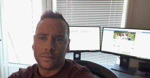 SPENT: Renè Haugen brukar Facebook til å testa fotballkunnskapen om a-laget i Vik, quizmasteren er spent på mottakinga i kveld.