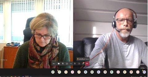 ENIGE: Selv om Ordfører Anne Berit Lein (Sp) og Stein erik Aalberg ikke var enige om driftsbudsjettet i desember, er de nå enige at man må ta tak i overforbruket umiddelbart.