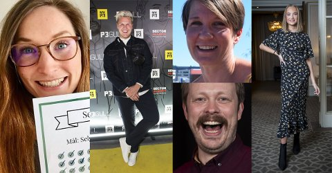 KAN VINNE PRIS: Lise Vermelid Kristoffersen, Vegard Harm, Sara Lossius, Einar Tørnquist og Emma Ellingsen.