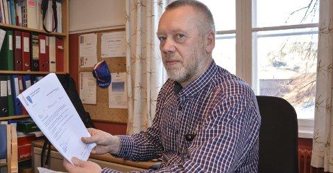 Nærmeste leder: Rektor ved Tvedestrand og Sandøya skoler måtte behandle varslingssaken som kom fra en av hans ansatte. Saken dreier seg i hovedsak om uoverensstemmelser mellom to ansatte. Foto: Arkiv