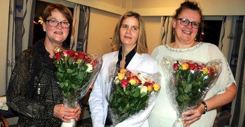 25 år: F.v. barnehageassistent Jorunn Gladhaug, miljøarbeider Ragni Haug og miljøarbeider Inger Odny Bik.