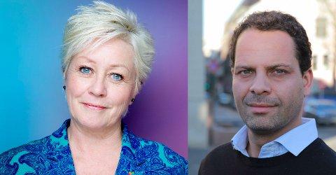 Anne Lise Ryel, generalsekretær i Kreftforeningen David Hemmingsen, Distriktssjef Kreftforeningen, Distriktskontor Oslo.