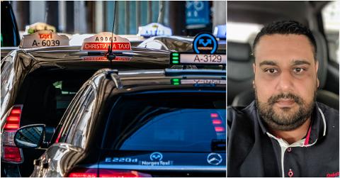 REAGERER: – Som regel er det gode, hardtarbeidende mennesker som kjører taxi, sier  drosjesjåfør Ali Rana som likevel ønsker seg strengere regler for hvem som får kjøre taxi.