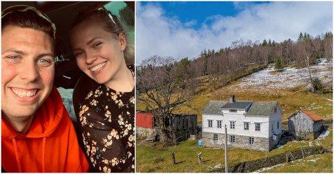 FANN RO: På småbruket har Charlotte Hestenes Evensen, Håvard Austevoll og dottera Kaja funne ei heilt anna ro enn dei hadde då dei budde i Bergen.