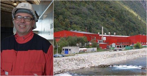 NYTT PROSJEKT: Til neste haust kan det bli drift i det gamle Fundo-anlegget att, fortel fabrikksjef Arne-Martin Kjærland ved Hydro Høyanger.