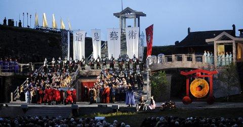 Premiere: Opera Østfolds første oppsetning som distriktsopera var Turandot av Puccini sommeren 2009 med utsolgte forestillinger.Arkivfoto: Erik Hagen