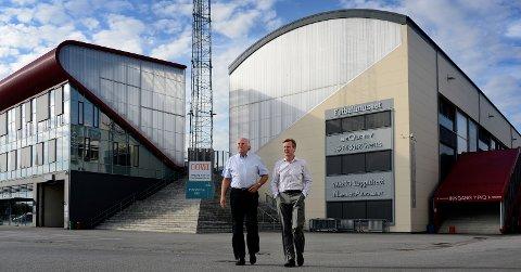 Jon Brynildsen, styreleder i Værste AS, og Trond Delbekk, administrerende direktør, styrte Værste-konsernet mot 71 millioner i pluss i 2016. – Vi skal ligge på 50 millioner i pluss i årene fremover, sier Delbekk. FOTO: GEIR A. CARLSSON