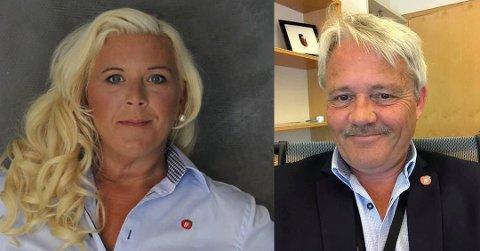 Ny politisk hverdag: Anita Vik og Bjørnar Laabak i Fredrikstad Frp sier partiet skal bli tydeligere i å få frem partiets egen politikk, utenfor regjering. (Arkivfoto: FB)