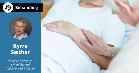 Skribenten reiser spørsmål ved hvilken oppfølging og omsorg døende pasienter får på det siste.