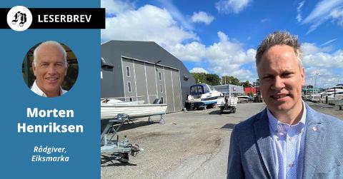 Ordfører Jon-Ivar Nygård fotografert ved Fredrikstad Marineservice i juli i år. Brevforfatteren mener han burde tatt kontakt med ledelsen i Marineservice når han først var der.