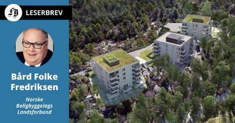OBOS i Fredrikstad gir en alternativ vei inn på boligmarkedet gjennom Bostart-ordningen, opplyser Fredriksen. Bildet er fra Lyngen Borettslag på Begbyåsen.