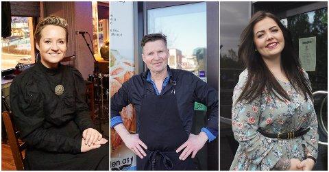 Fornøyde: Linda Lockert Dybwad, Sigbjørn Johansen og Alida Knutsen melder om gode besøkstall hos sine serveringssteder den siste uken.