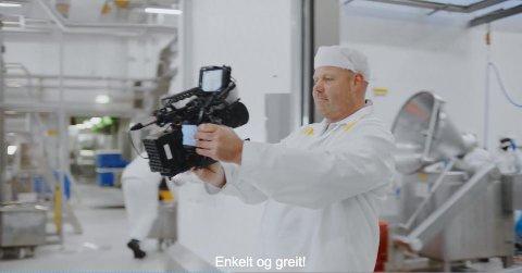 Geir Berge i aksjon i Gildereklamen som går på tv nå om dagen.
