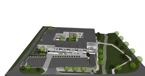 PLANEN: 24 omsorgboliger, aktivitetssenter og personalbase. ILLUSTRASJON: Betonmast eiendom AS