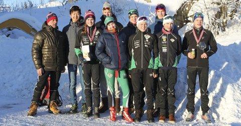 TFL PÅ KM: Hans Lie, Petter Stokkeland, Marius Svendsby, Øivind Mo, Magnus Horgen, Martine Svendsby, Karin Selma Larsenm Erik Mjølnerød, Johan Unneberg og Filip Holt.