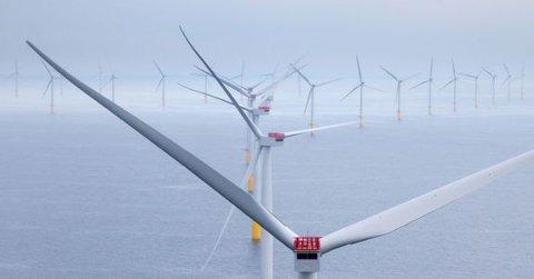 Illustrasjonsbilde fra Walney offshore vindpark, Ørsted