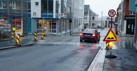 MÅ JUSTERES: Krysset Tuhauggata-Haraldsgata blir stengt mellom klokken 18 onsdag og klokken 10 torsdag morgen.