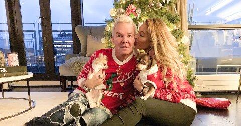 JUL I KOPERVIK: Karen Ånensen (34) og Kristian Valen feiret jul sammen med familien i Kopervik.
