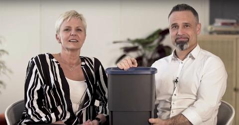 Sissel Albertsen fra Leirfjord og Maurizio Lucia fra Torino nå funnet det de mener er løsningen på flere av avfallsproblemene i hjemmet.