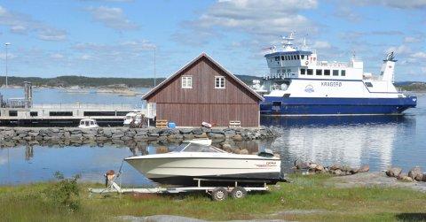 VIL BYGGE: Det ble søkt om å bygge båthus, boder og utvidelse av småbåthavn på Aasvika på Jomfruland. Foto: Per Eckholdt