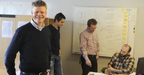 GODT DRIV: Christopher Carlsen i Kongsberg Ferrotech har kommet en del lenger med utviklingen av serviceproduktet Octapous.