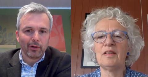 PÅMELDING: Ordfører Bror Helgestad og kommunelege Karin Frydenberg informerte onsdag om åpningen av påmelding til «massevaksinering».