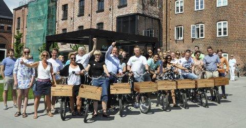 Samarbeidsprosjekt: Bydelssyklene er resultat av et samarbeid mellom de ulike bedriftene i Hammerdalen. Investeringen står Fritzøe Eiendom for. foto: vårin alme