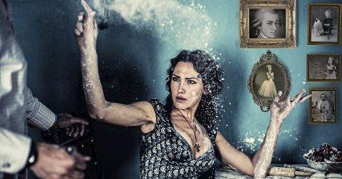 «Dama til mozart»: Larvik Barokk inviterer til Norges-premiere på en helt ny kammeropera i Herregården på fredag. Mozarts kone, sopranen Constanzes liv med musikeren. foto:  magnus skrede