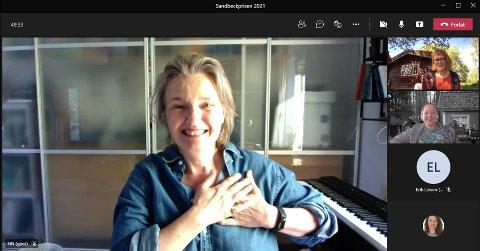 STOLT VINNER: Ingrid Bjørnov tar seg til hjertet og er stolt og beæret over å ha blitt tildelt Sandbeckprisen 2021.