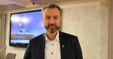 FORNØYD: Kommunedirktør Geir Bjelkemyr-Østvang i Bamble.