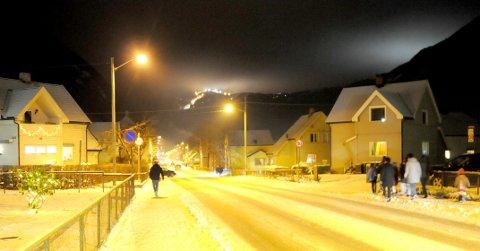 IDYLL: Rjukan i vinterstemning er et vakkert syn. Men værmeldingen truer idyllen.