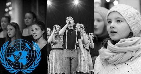 Det Norske Jentekor og korene i Skedsmo Voices-familien synger sammen i Lillestrøm kirke på FN-dagen