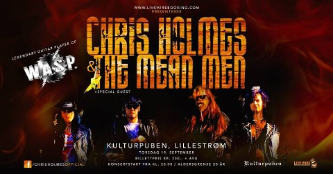 Chris Holmes and The Mean Men Tour