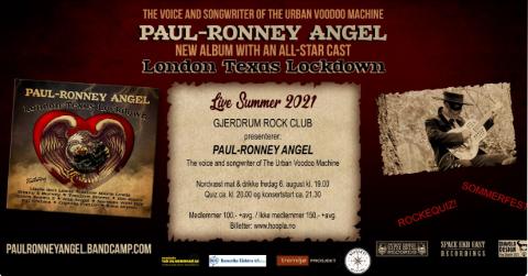 Sommerfest med rockequiz og PAUL-RONNEY ANGEL på Nordvæst Mat & Drikke