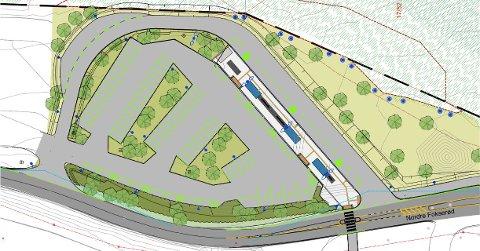 NYTT: Det nye knutepunktet på Fokserød inneholder blant annet 60 parkeringsplasser.
