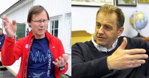 KRITIKK: –Saksbehandlingsfeil, hevder Ragnar Standal (t.v.) og Erik Bryn Tvedt i Sandefjord Turistforening vedrørende rådmannens utredning om hytteprosjektet i Sundeskogen 86 på Østerøya.