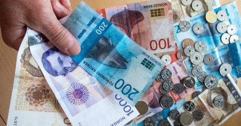 Det kan bli en reallønnsnedgang i 2018. Foto: Gorm Kallestad, NTB scanpix/ANB