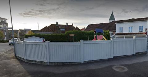 STENGT: Vest-tun barnehage i Porsgrunn er foreløpig stengt ut uka.