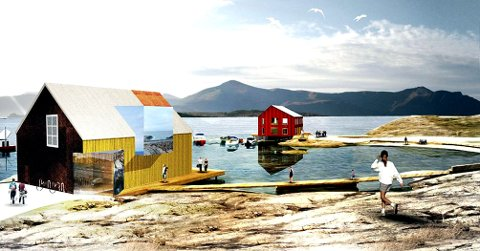 Visningssenteret for havbruk er planlagt lokalisert til Sør-Skarvøya like ved Atlanterhavsveien.
