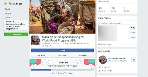 Når det nærmer seg bursdagen din kan Facebook tilby deg å sette opp en bursdagsinnsamling slik at dine Facebook-venner kan donere penger til en veldedig organisasjon.
