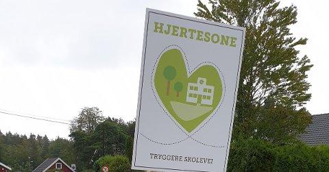 HJERTESONE: Prosjektet Hjertesone handler om å skape tryggere skoleveier for barn slik at flere kan gå, rulle eller sykle til skolen.